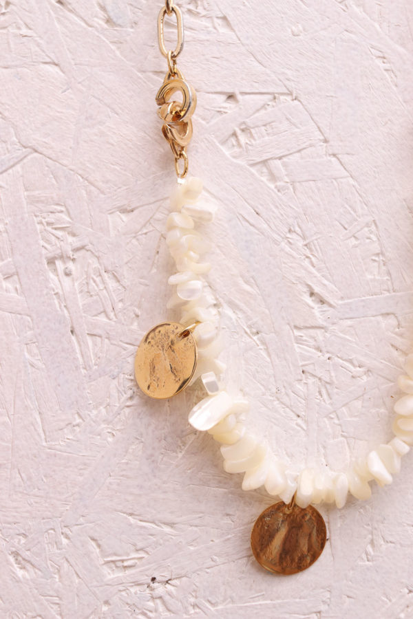 Collier fantaisie en chips de nacre - Le Stockholm