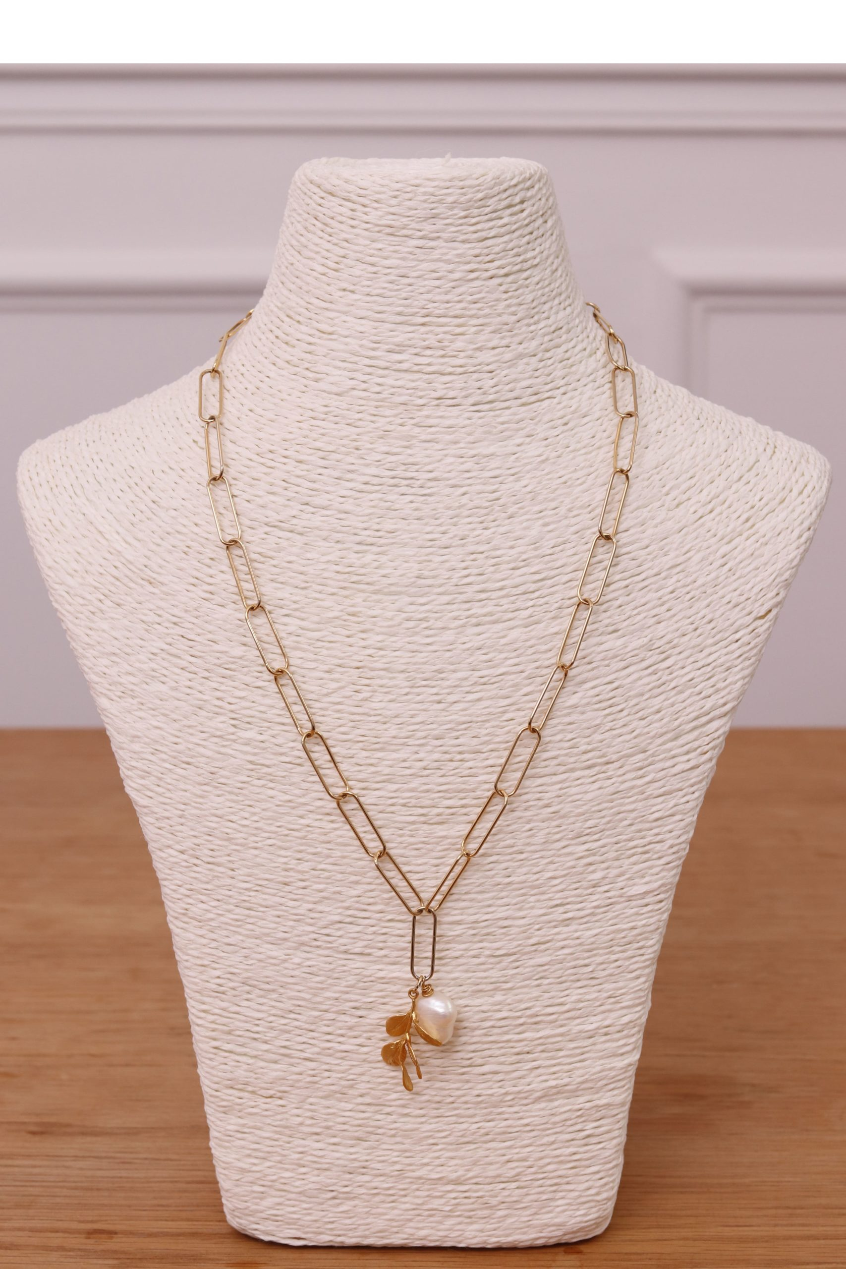 collier or et perle