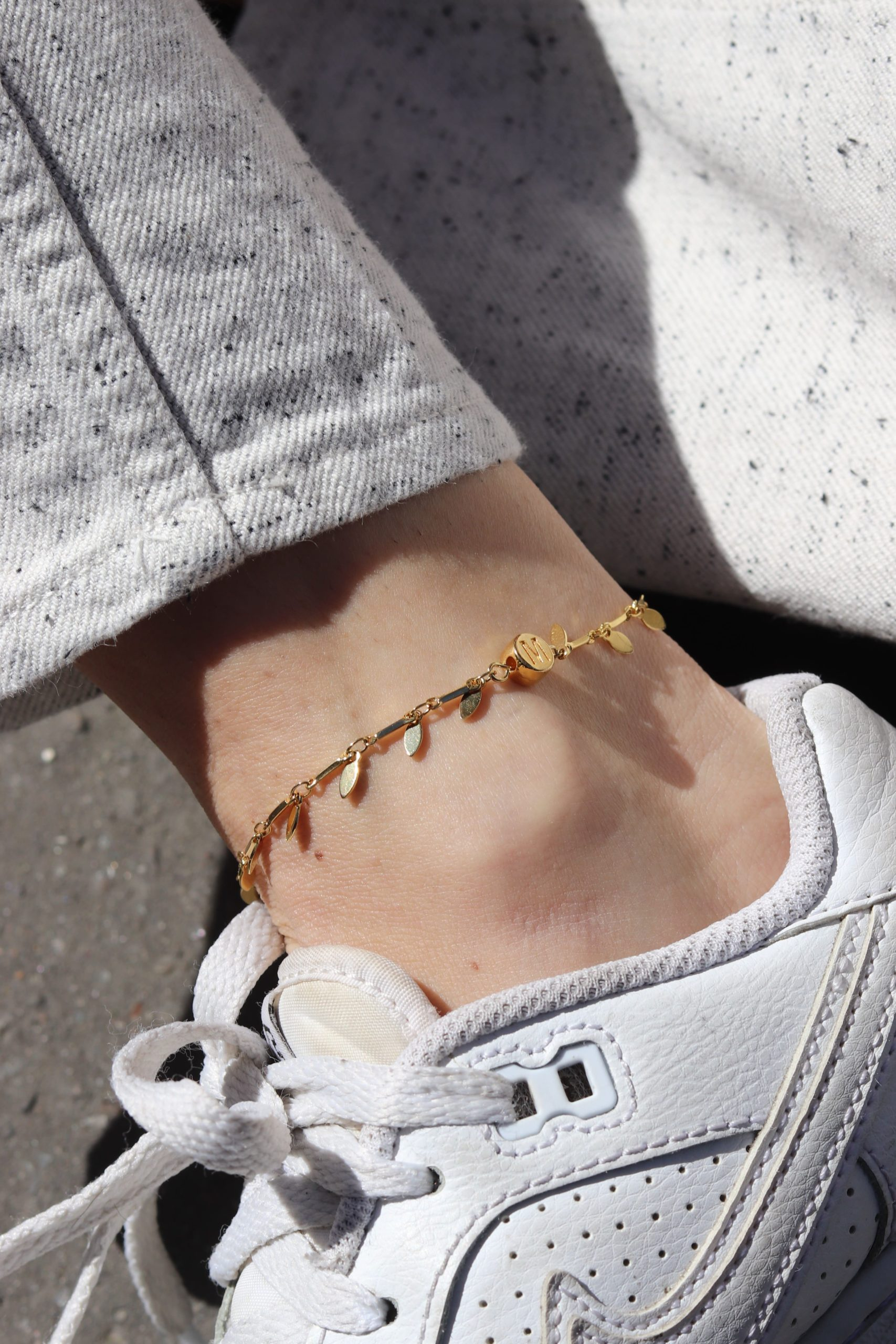 Golden ankle chain