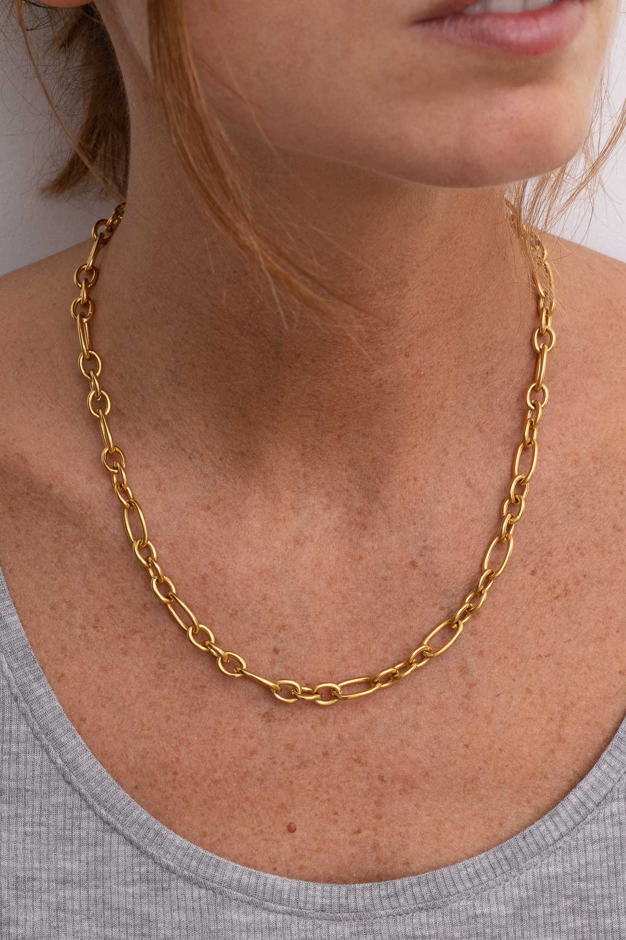 Chaine grosse maille femme