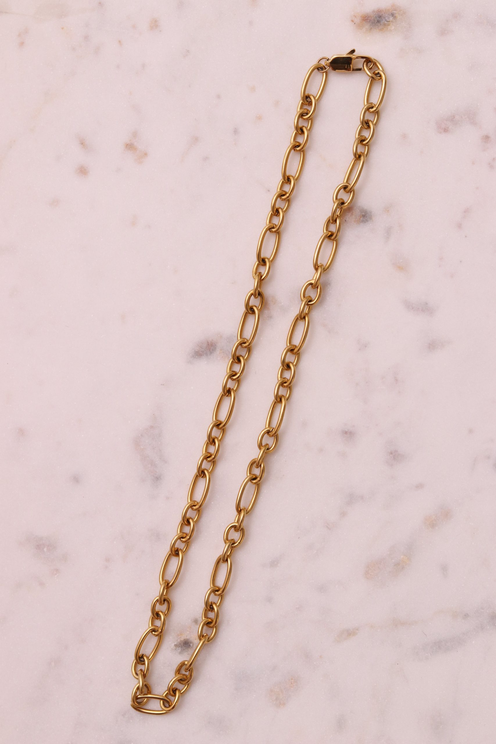 Collier grosse maille femme